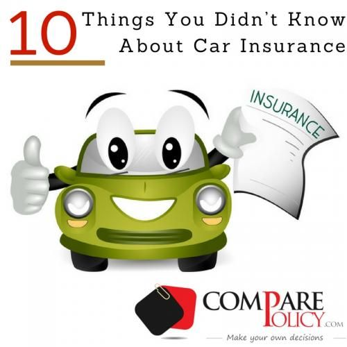 10 Things You Didn't Know About Car Insurance | Best car ...