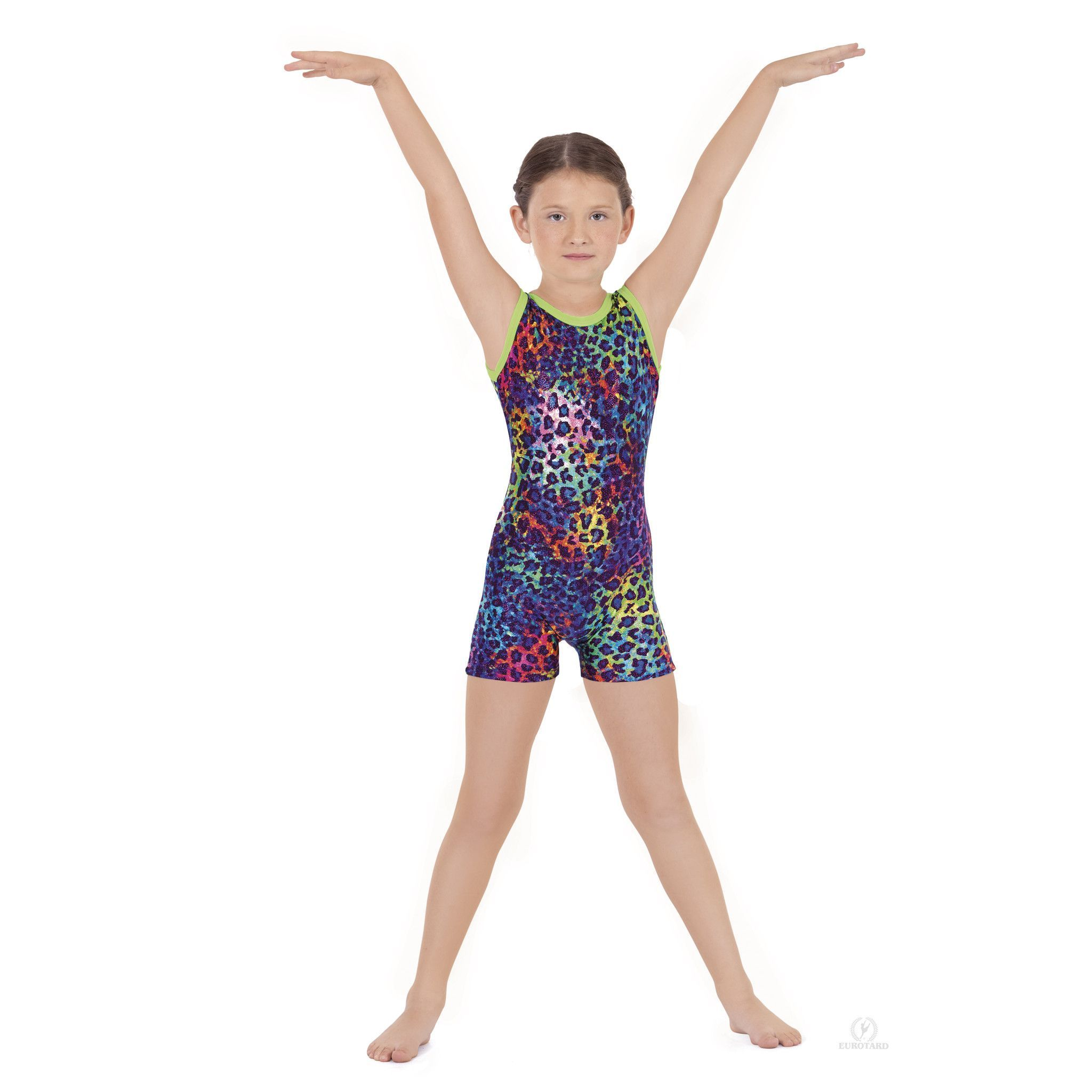 9318b14c8f1a Disco Leopard Gymnastic Biketard | Products | Gymnastics, Swimwear ...