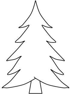 Tree Templates Free Printable And Christmas Trees On Pinterest Christmas Tree Template Christmas Tree Coloring Page Christmas Tree Stencil