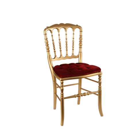 Chaise Napoleon Iii Doree Fixe Velours Rouge Chaise Napoleon Iii Couverts En Argent