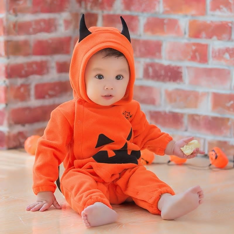 998c5b3f4ded Halloween cosplay costume photograghy dress baby pumpkin demon spoof costumes  jumpsuits rompers for kids