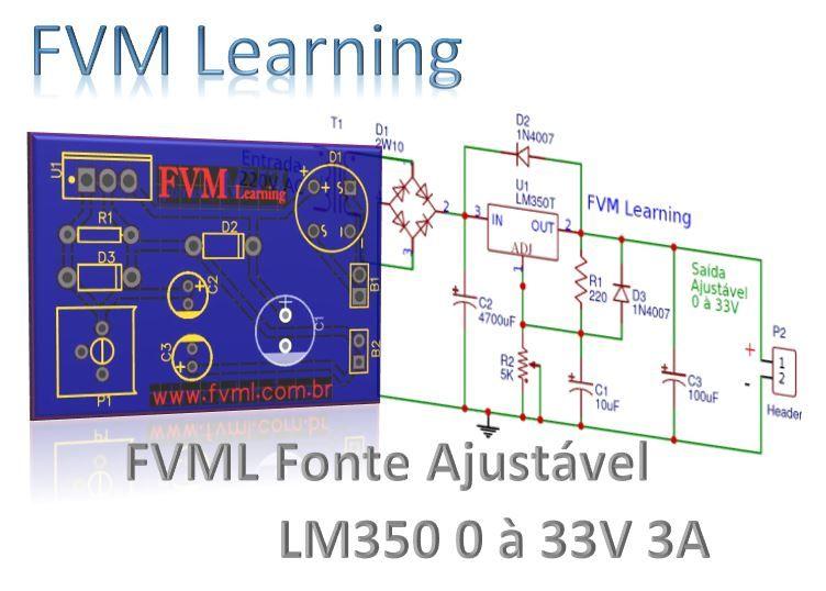 Fonte Ajustavel De 1 25 33v E 3 Amperes Com Lm350 Pci Placa