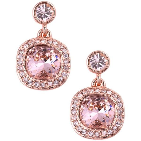 Givenchy Rose Gold And Vintage Swarovski Crystal Drop Earrings 48 Liked On