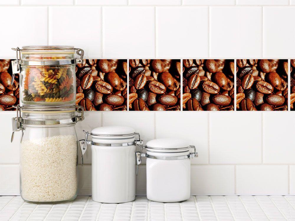 Fliesen Zum Aufkleben Set Kaffeebohnen Kaffee Fliesenaufkleber