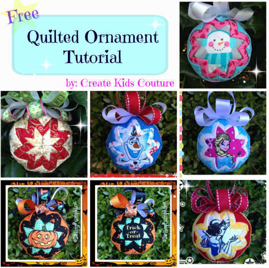 Folded Fabric Christmas Tree: Create Kids Couture: Quilted Ornaments