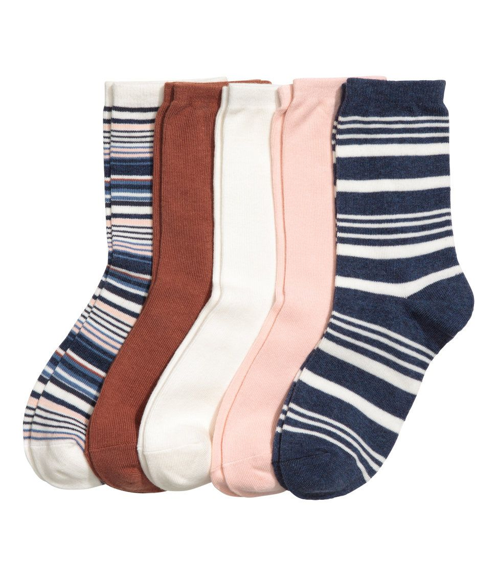 Check this out! Fine-knit socks in a soft cotton blend in various colors and designs. - Visit hm.com to see more.
