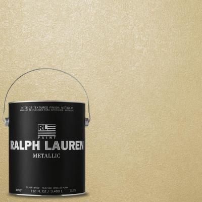 Ralph Lauren 1 Gal Palladium Silver Metallic Specialty Finish Interior Paint Me131 The Home Metallic Gold Paint Ralph Lauren Paint Colors Gold Painted Walls