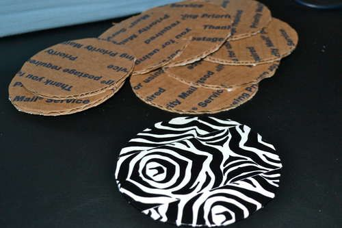 Diy Coasters From Cardboard Diy Coasters Cardboard Coasters Cardboard Box Crafts
