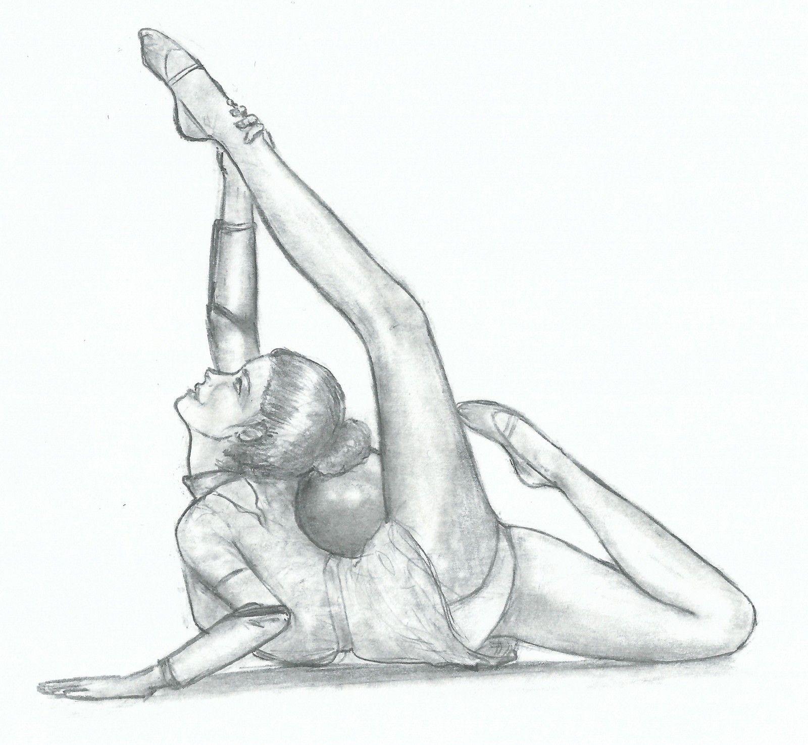 Dessin danseuse de GRS | Gimnasia, Dibujo y Gimnasia rítmica