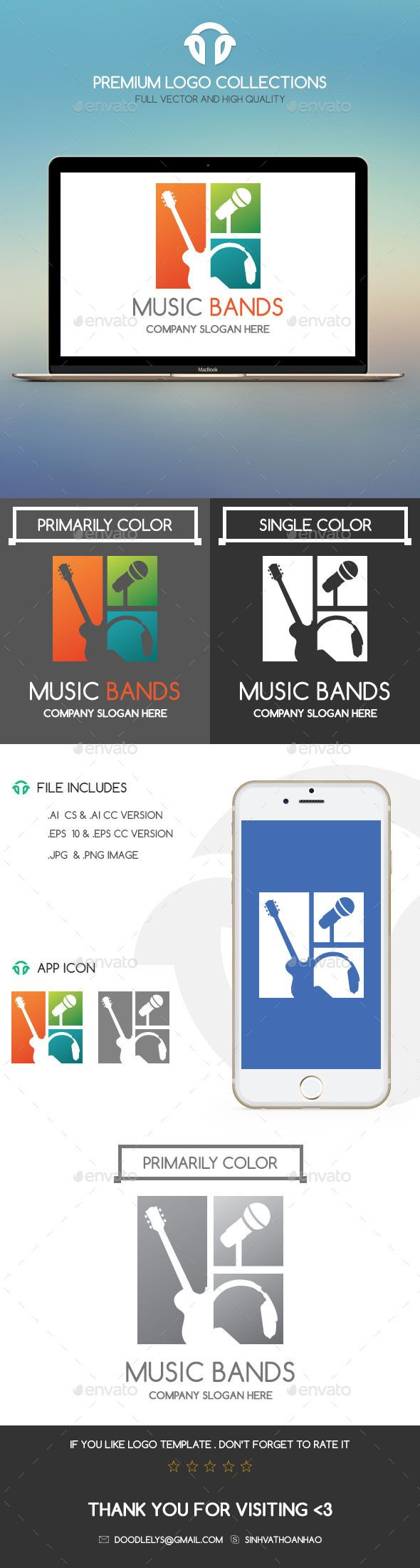 Music Bands (With images) Security logo, Logo templates