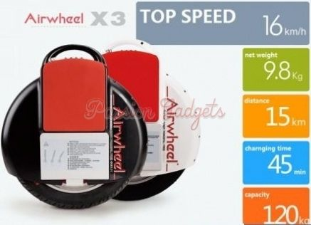 [Stop Production] Airwheel X3 132Wh / 170Wh Electric Unicycle One Wheel Marsrover
