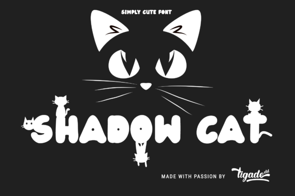 Shadow Cat Font By Tigade Std Creative Fabrica Cute Fonts Cat Shadow Cat Tail
