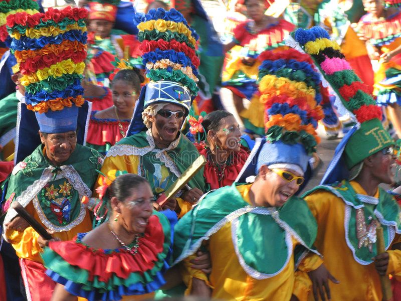 Barranquillas Carnaval BARRANQUILLA COLOMBIA FEBRUARY 02 Group of a people