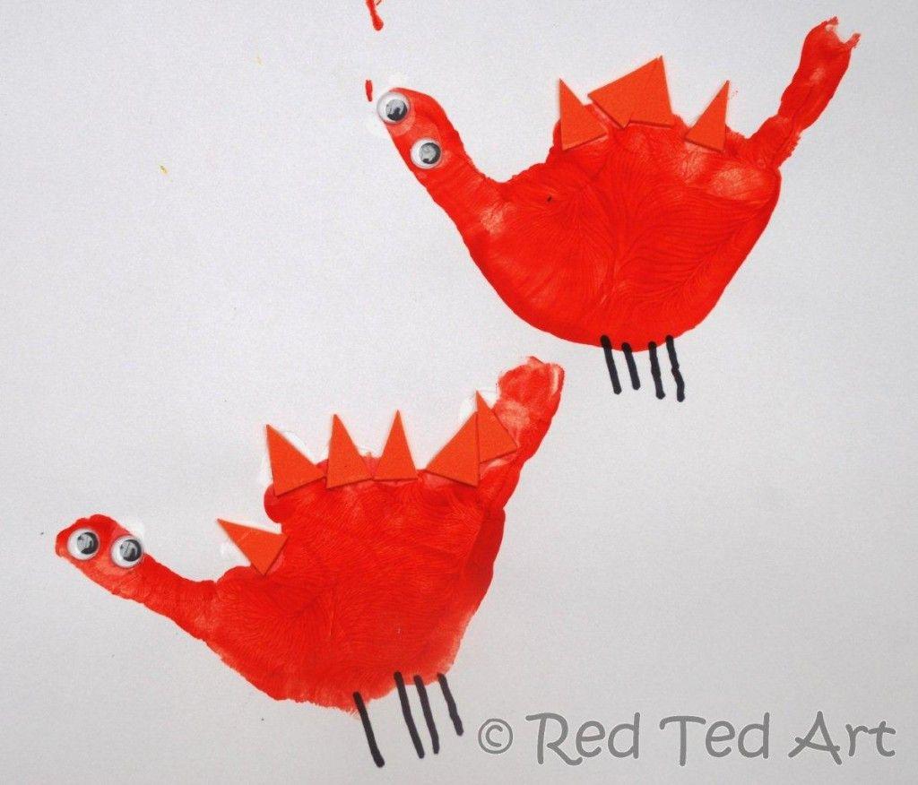 Handprint alphabet d is for dinosaur kids hands craft for Dinosaur crafts for preschool
