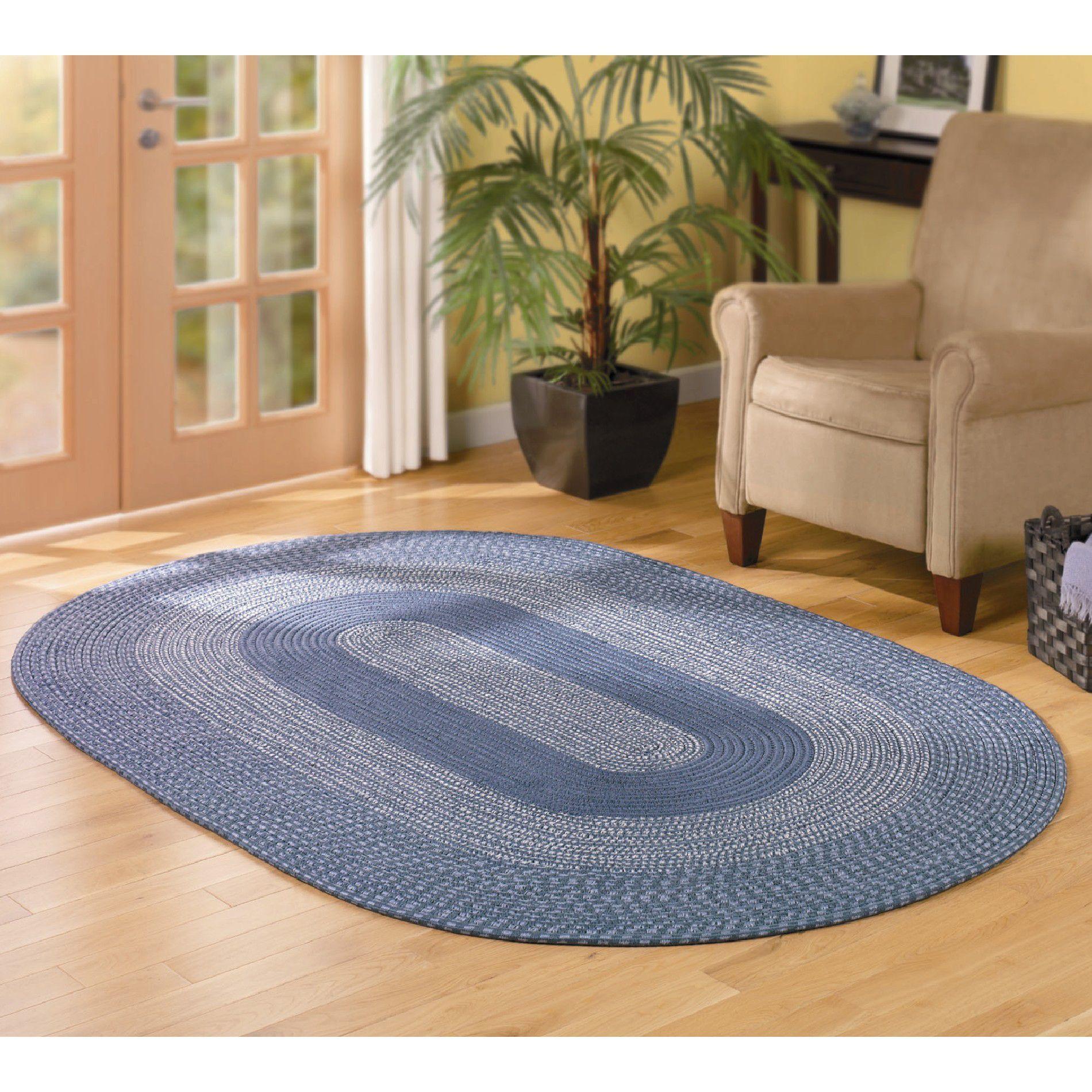 Essential Home Wedgewood Braided Rug 30x48 Blue