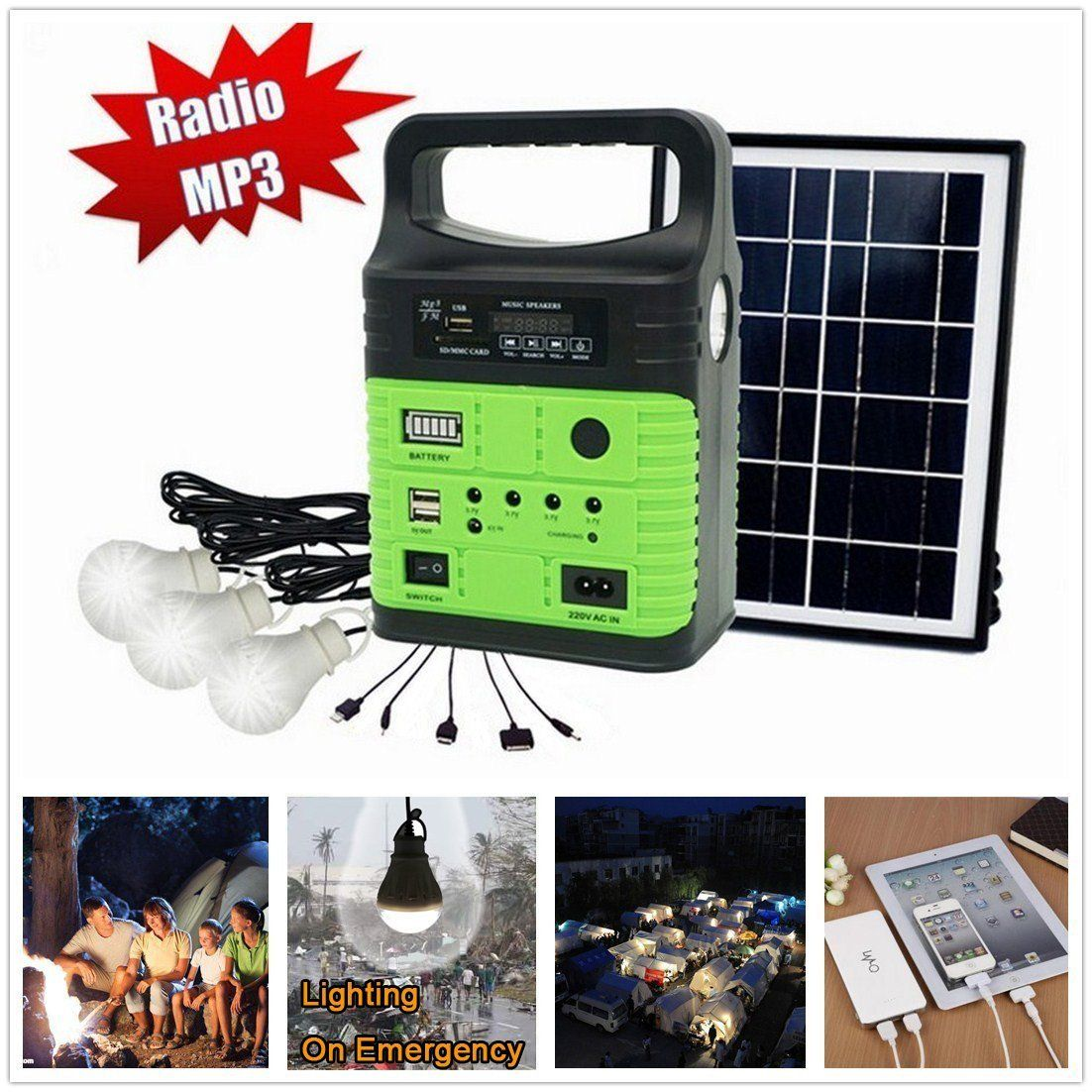 Amazon Com 10 Watt Solar Generator Portable Kit Power Inverter Solar Generator System For Home C Portable Solar Generator Solar Generator Solar Power Energy