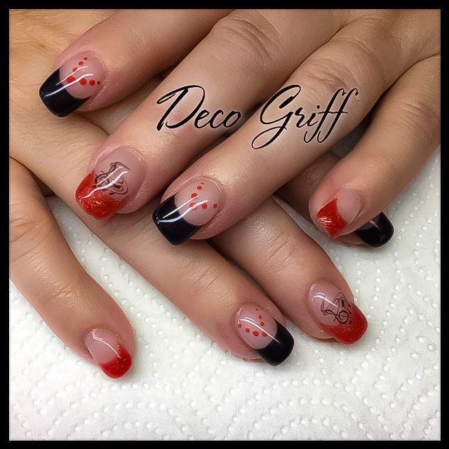 French rouge et noir Deco musique Nail art design Musique, Rouge, Ongle  Deco,