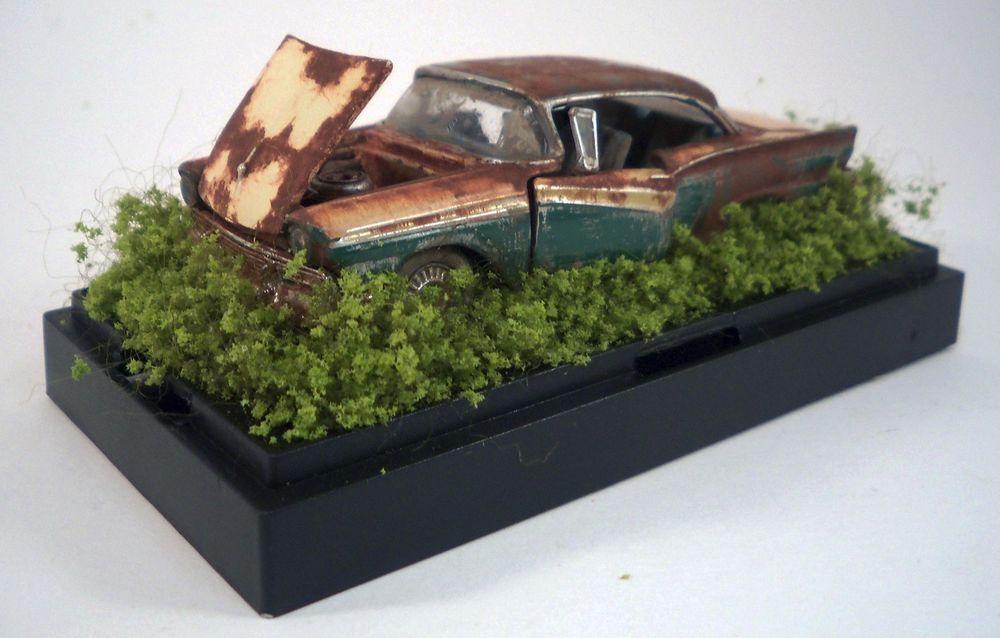 1957 Ford Fairlane 500 Custom Weathered Barn Find Unrestored 1/64 ...