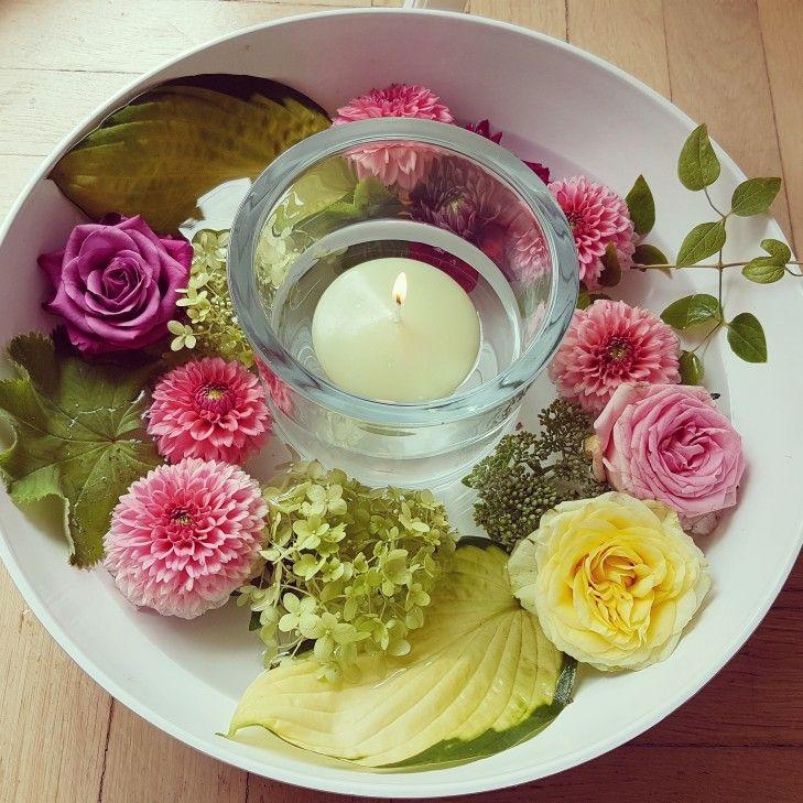 Blumendeko Schnell Gemacht Grosse Schale Mit Wasser Fullen