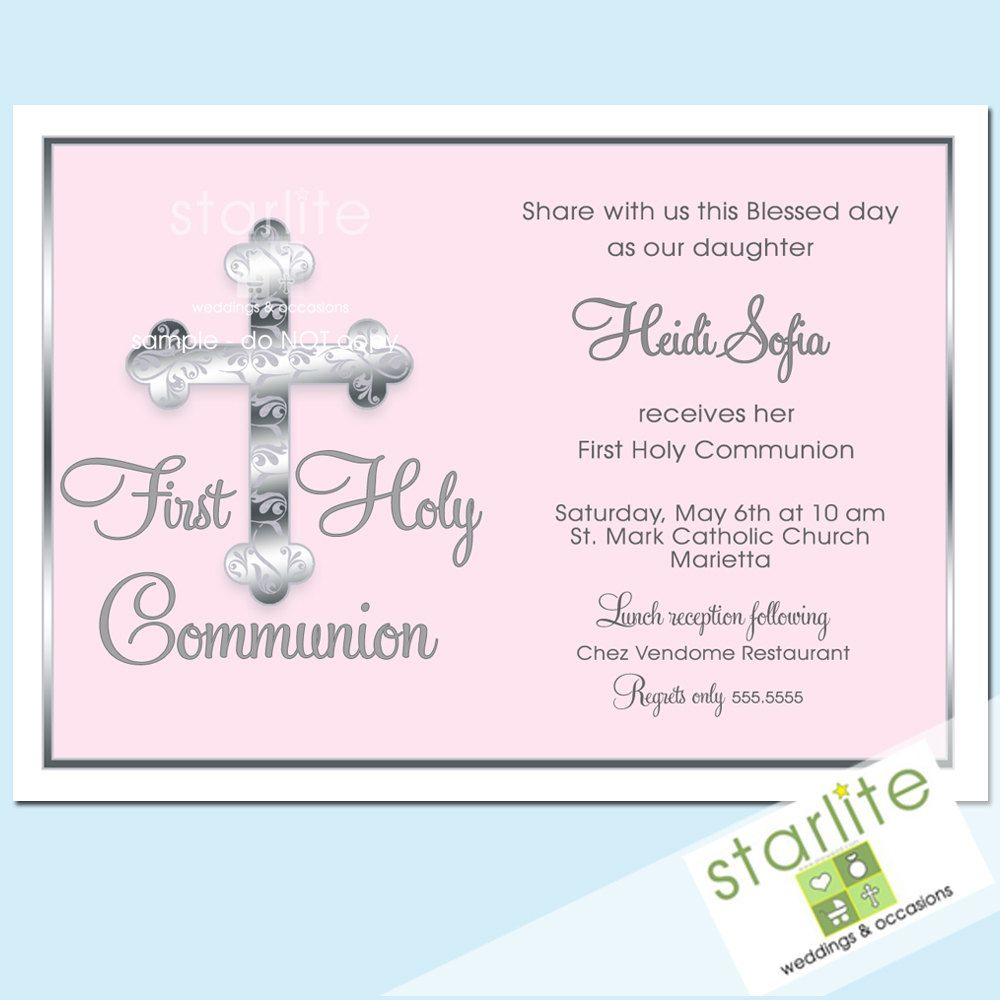 Girl's First Communion Invitations, Communion Invitations, First ...