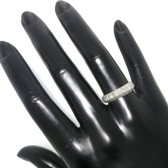 Diamond Wedding Band Eternity Ring by MondiNYC on Etsy