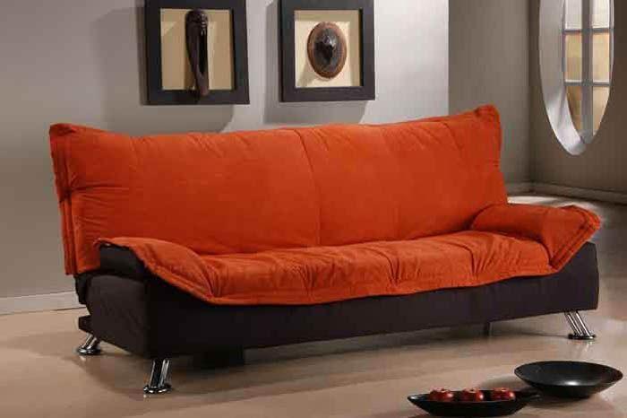 Ikea Sleeper sofa orange