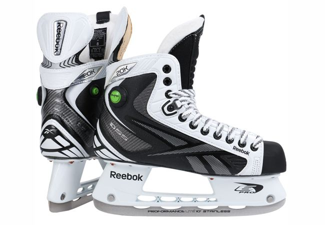 c99b94149da Reebok White 20K Pump Sr. Ice Hockey Skates