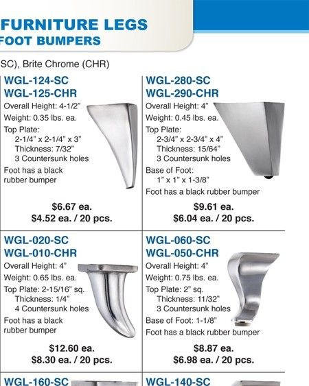 Outwater M42 Page 258 Aluminum Furniture Furniture Legs Decorative Ceiling Tile