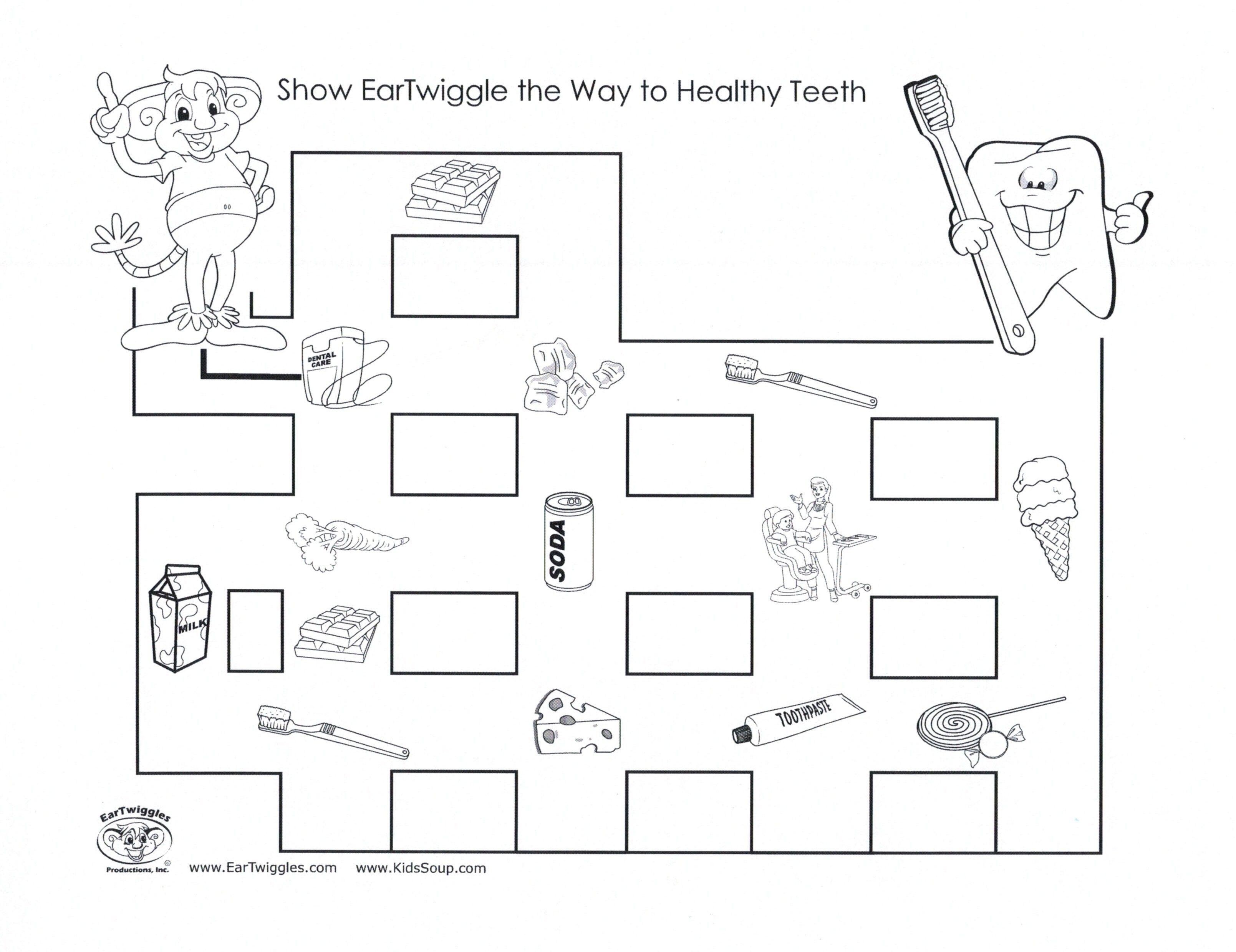 Healthy Maze Dental Kids Worksheets For Kids Healthy Teeth Preschool [ 2479 x 3218 Pixel ]