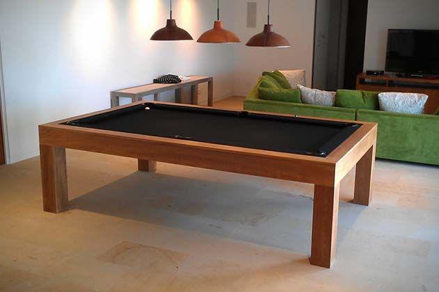 Bellagio Contemporary Teak Wood Pool Table Pool Table Project - Bellagio pool table