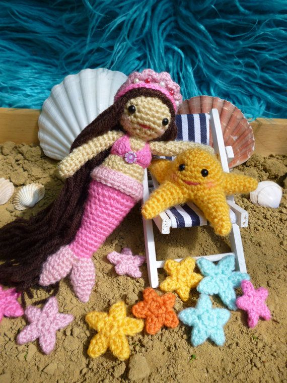Meredith and Stella, Mermaid and Starfish Amigurumi Crochet Pattern ...