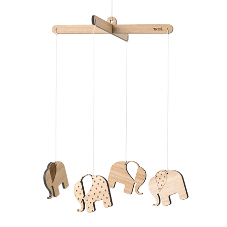 Elephant Wooden Mobile Handmade In Australia By Nest On Madeit