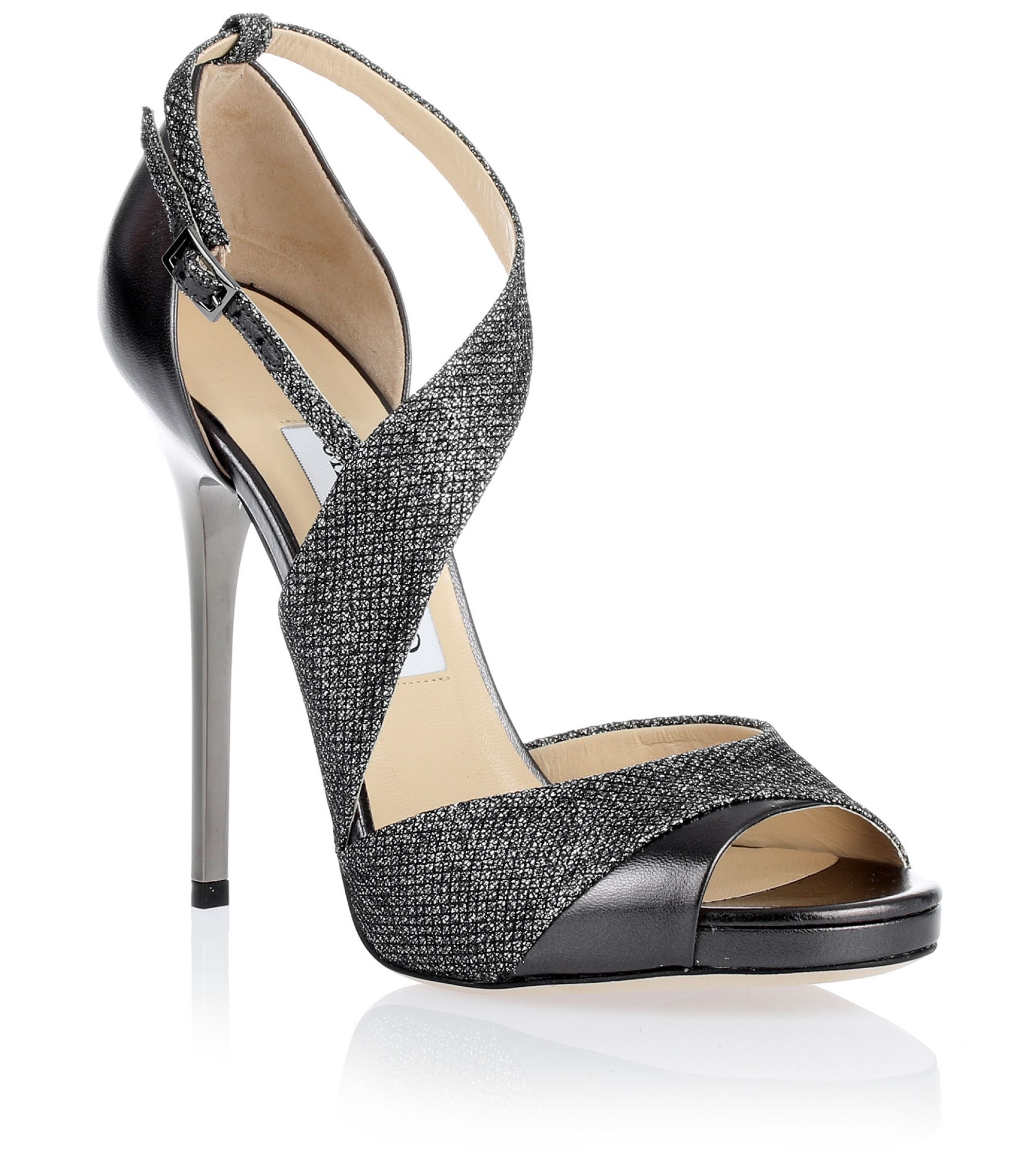 Tyne grey glitter sandal Jimmy Choo  Savannahs