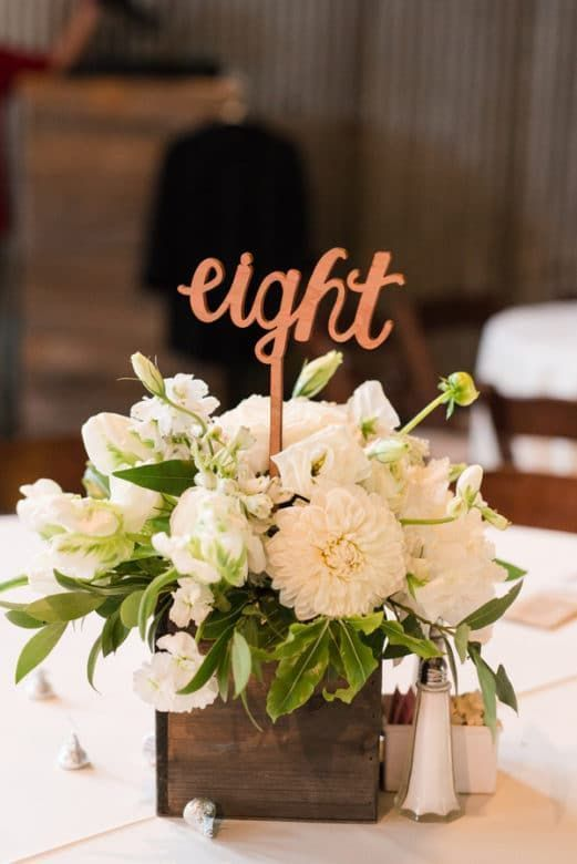 Rustic texas ranch wedding centerpieces