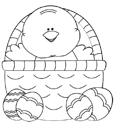 Easter Chick Coloring Pages Napady Do Ms Pinterest Worksheets - Easter-chick-coloring-pages