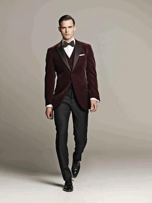Velvet 3 piece suit- could be nice for a #winter #wedding I can ...