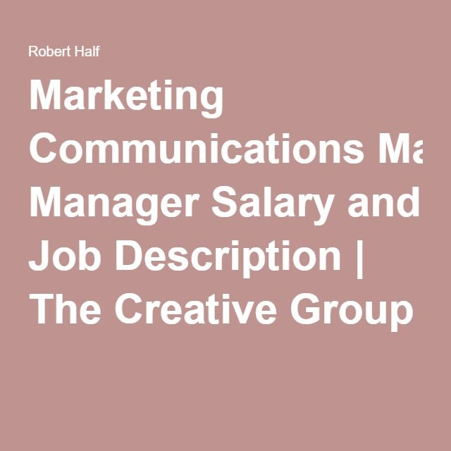 Hot Job Marketing Communications Manager Marketing Communications Marketing Jobs Communications