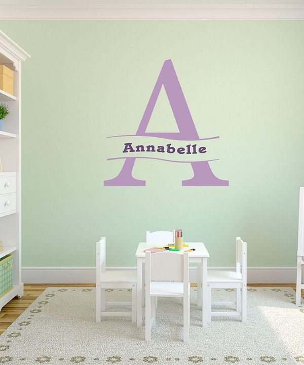 Take A Look At This Violet Personalized Banner Wall Decal Set On