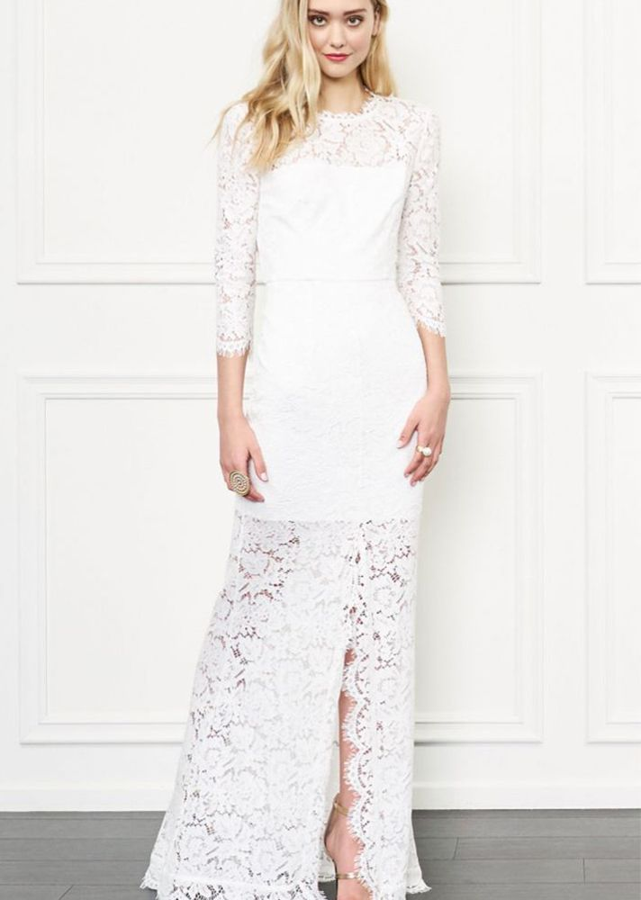 Wonderful Boho Wedding Dresses: Rachel Zoe Carolyn Open Back Lace Gown