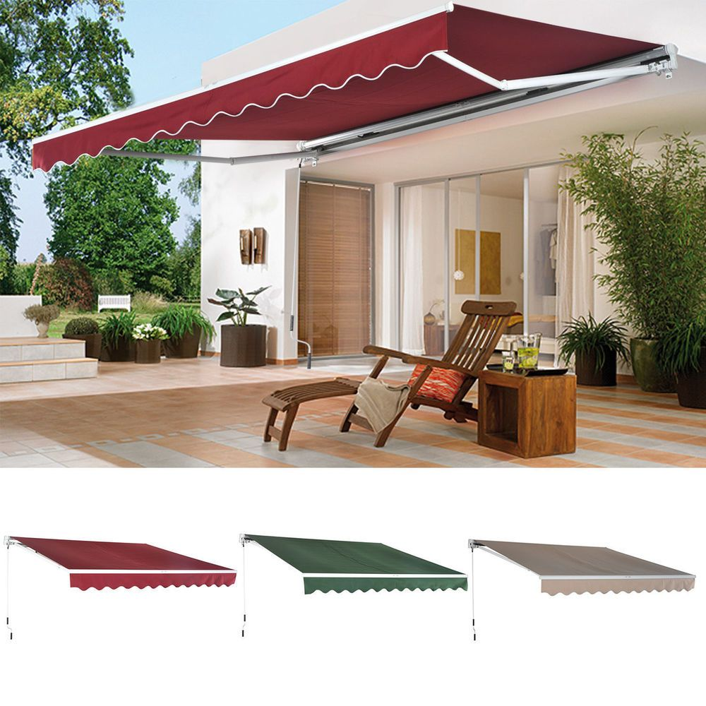Festnight Retractable Side Awning for Balcony and Terrace Sun Shelter,Outdoor Cream 100x1000 cm