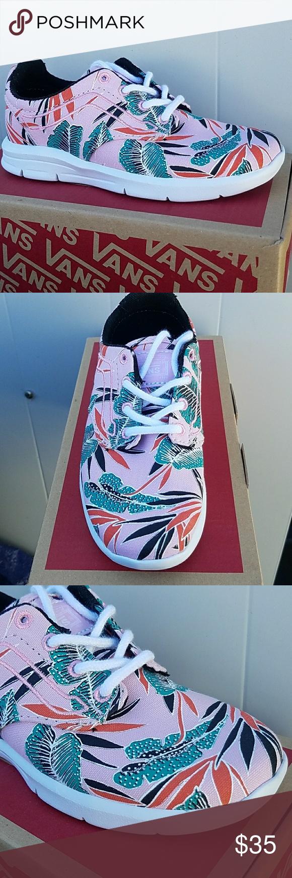 cb8c7ac049 Vans Iso 1.5 Tropical Vans with ultra cush lite tropical pink leave design Vans  Shoes Sneakers