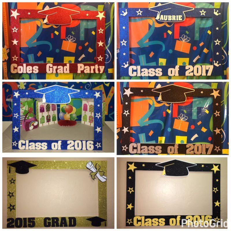 Photo Booth Frame To Take Pictures Grad Graduation | Para tomar ...