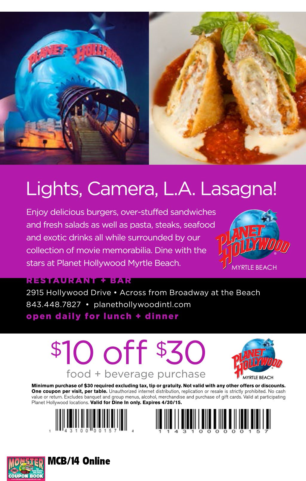 Hollywood restaurant bar myrtle beach resorts
