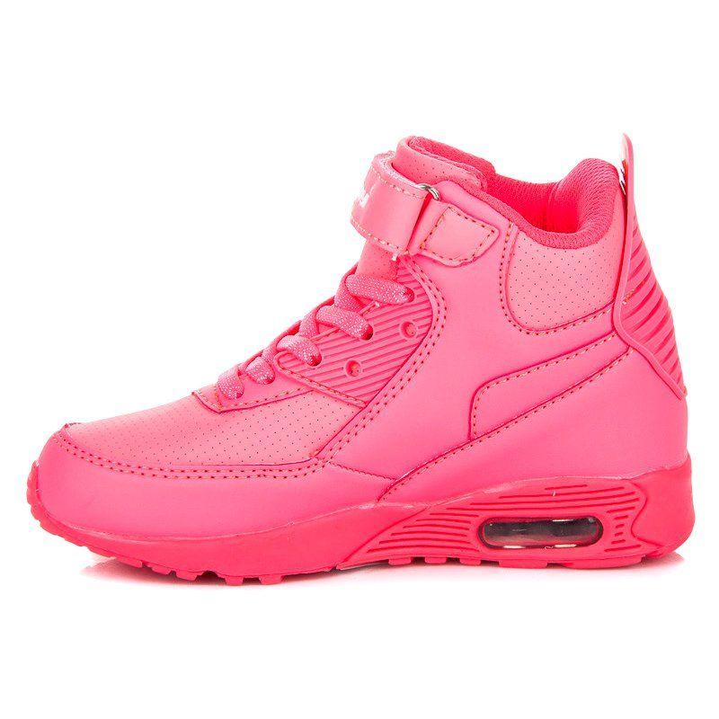 Hasby Neonowe Buty Nad Kostke Rozowe Air Max Sneakers Nike Air Max Sneakers Nike