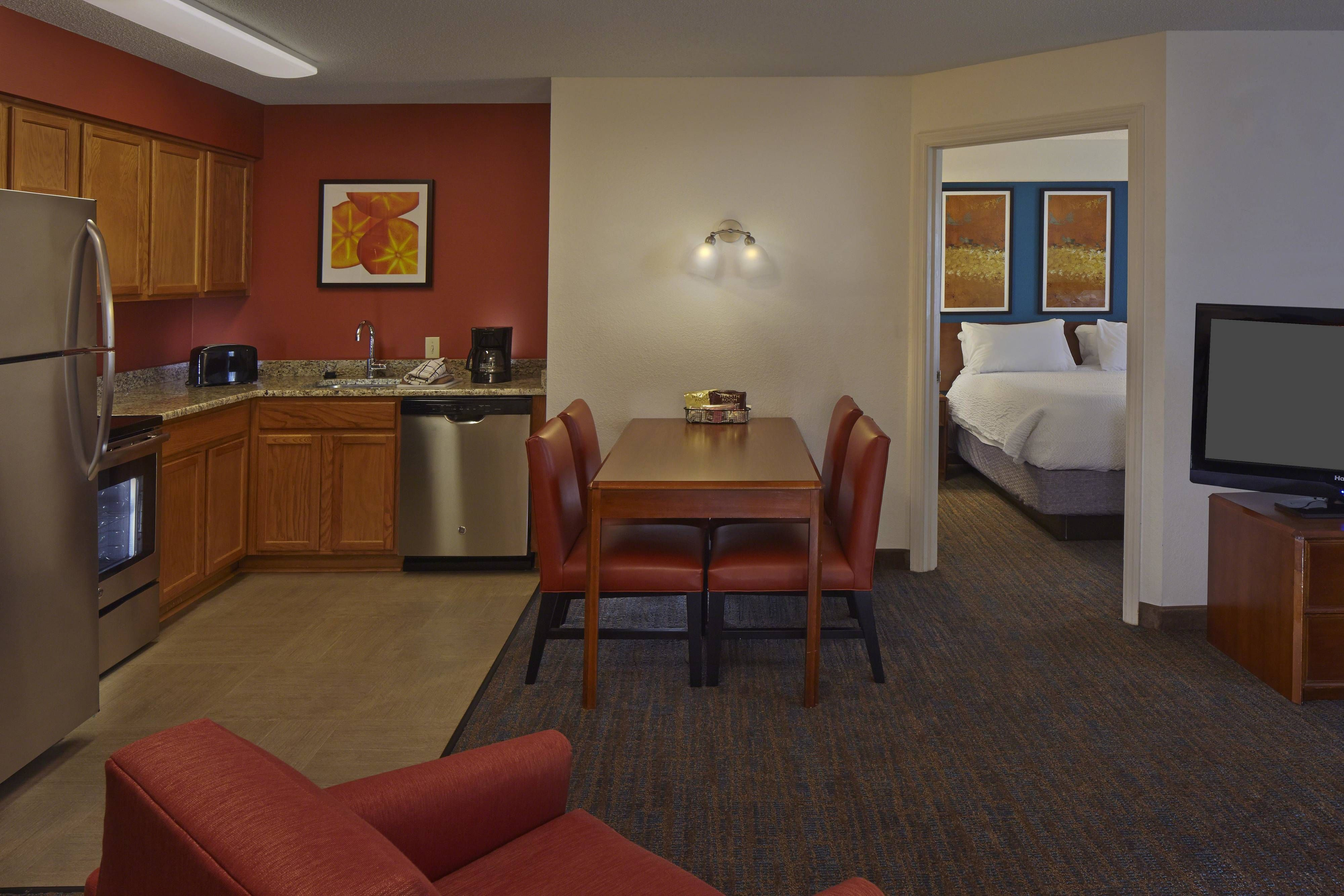Residence Inn Orlando East Ucf Area Two Bedroom Suite Kitchen