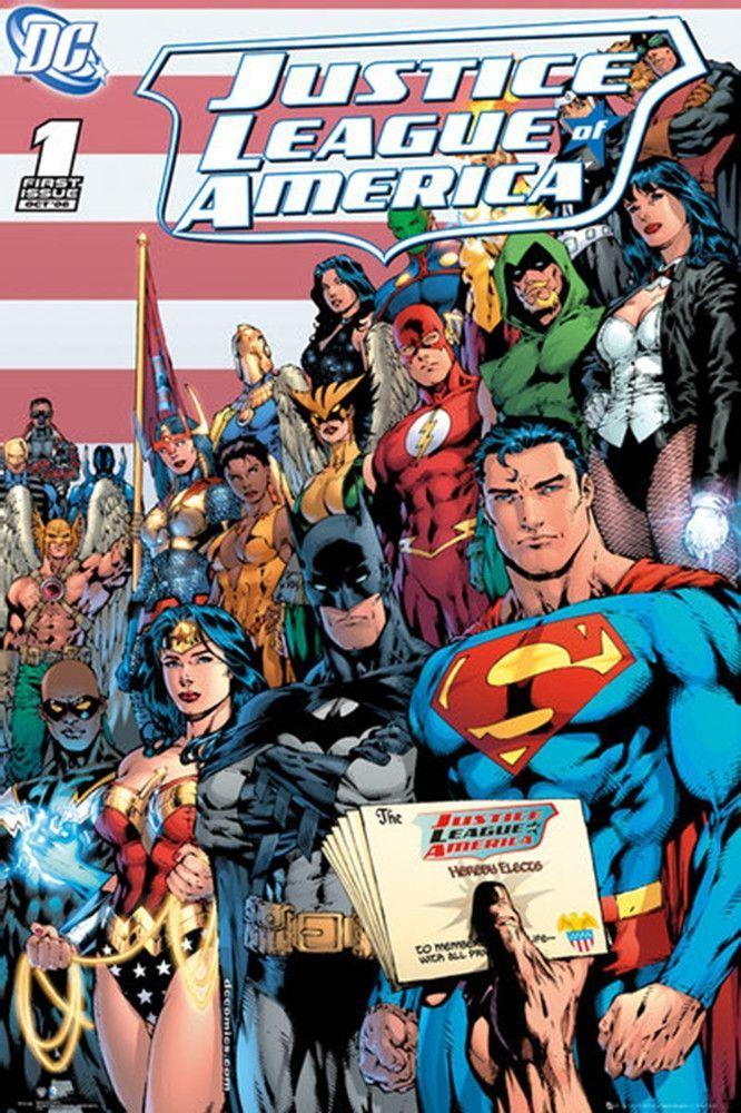 Justice League DC Comics Cover Poster