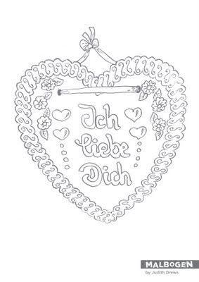 malbogen lebkuchenherz gingerbread heart basteln. Black Bedroom Furniture Sets. Home Design Ideas
