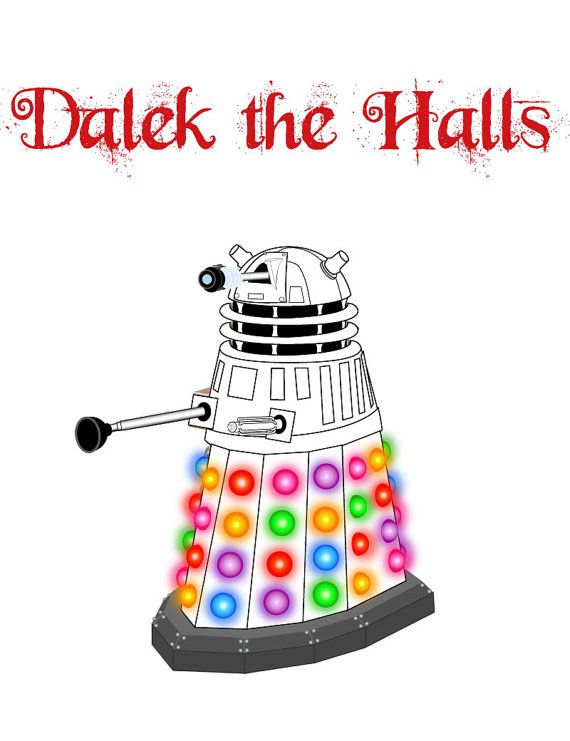Doctor Who Christmas Cards.Dalek Doctor Who Christmas Card By Behindthecellardoor On Etsy