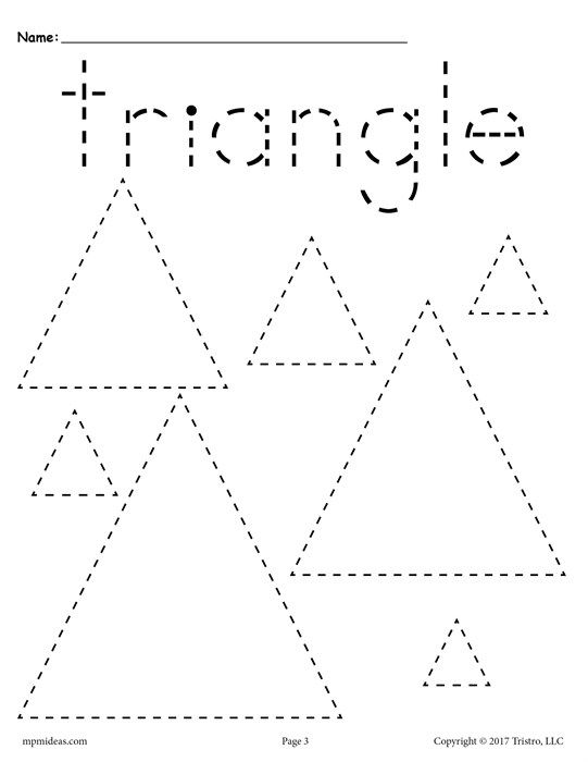 12 Shapes Tracing Worksheets Shape tracing worksheets