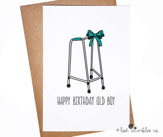 Funny BIRTHDAY CARD OLD OLDER ZIMMER male female man woman boy girl